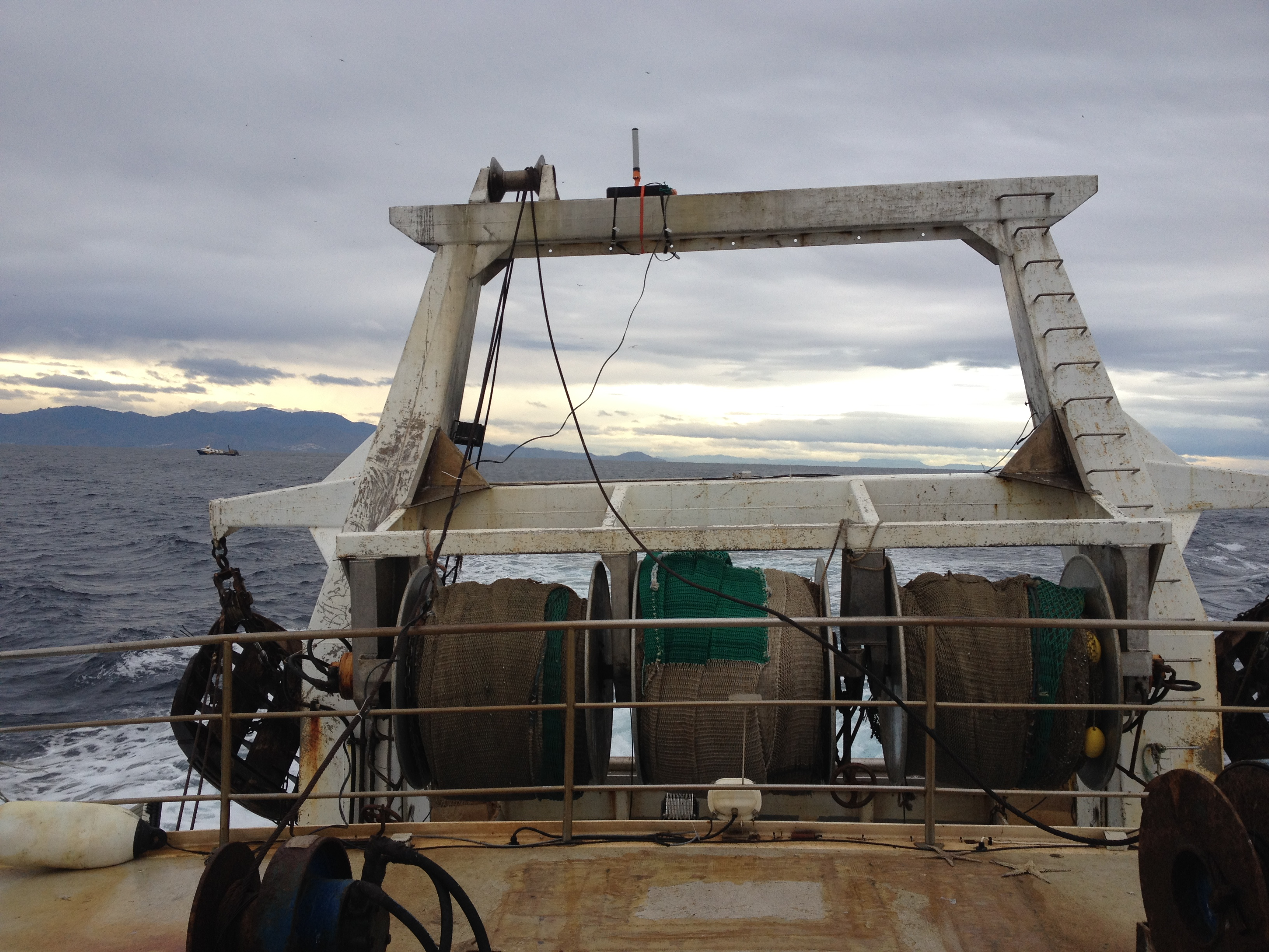 The goniometer antenna on top of trawl