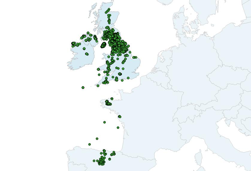 Hen Harrier dispersal map (Credits Natural England)