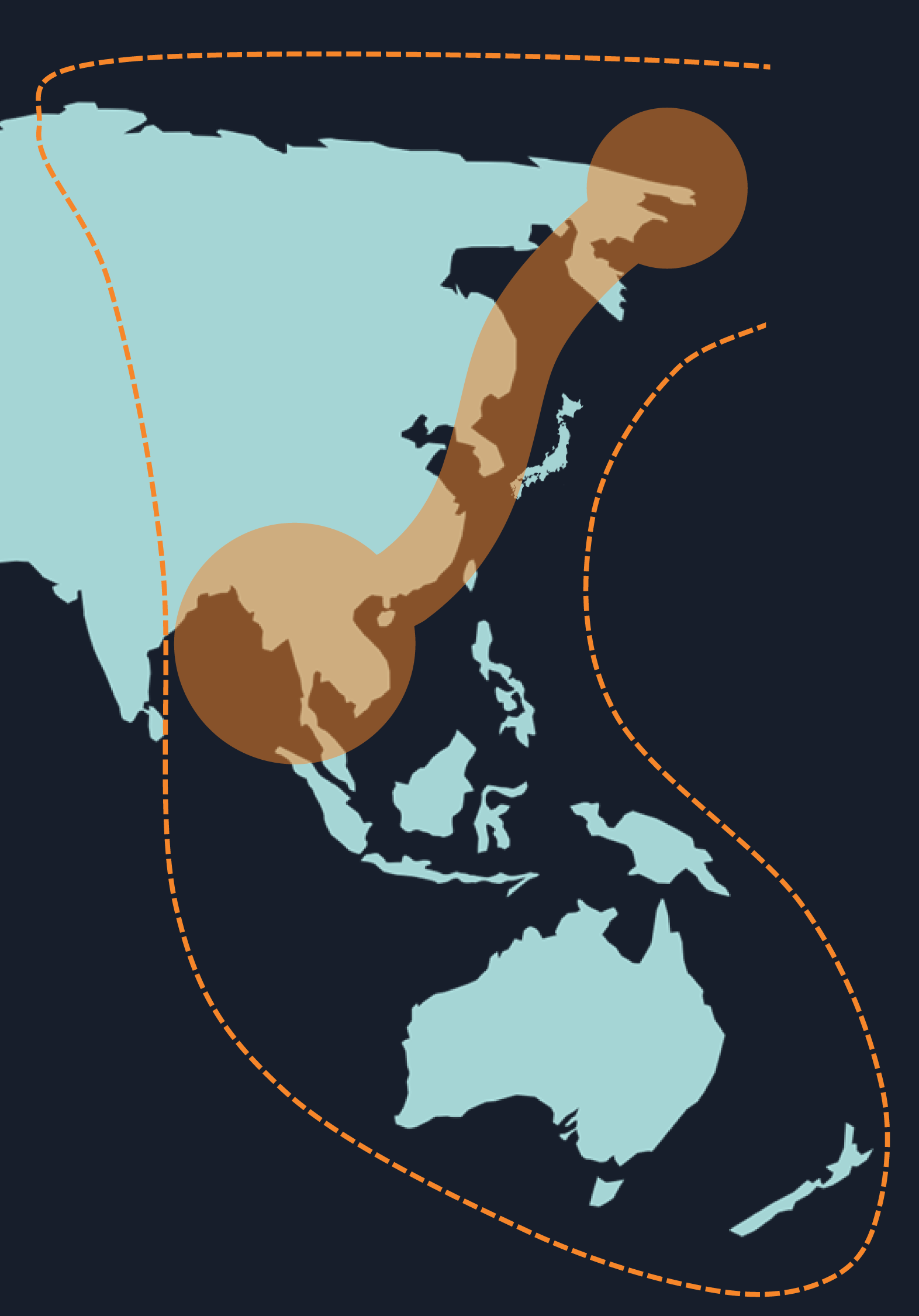 """The East Asian - Australasian """"Flyway"""" (Credit WWT)"""